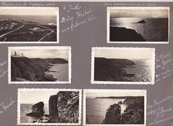 GW -page Recto-verso Album Ete 1949 -voyage En Bretagne -cap Frehel Falaise Phare Fauconniere Pointe Saint Cast Lalatte