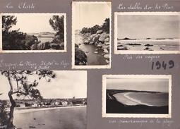 GW -page Recto-verso Album Ete 1949 -voyage En Bretagne - Ile Brehat Vedette Erquy Clarte Sables Or Arcouest