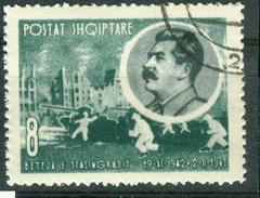 BM Albanien 1963 | MiNr 725 | Used | Schlacht Von Stalingrad, Stalin - Albanië