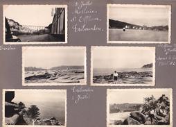 GW -page Recto-verso Album Ete 1949 -voyage En Bretagne - Morlaix Viaduc Saint Efflam Trebeurden Brignogan