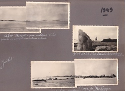 GW -page Recto-verso Album Ete 1949 -voyage En Bretagne - Aber Benoit Kerlouan - Greve Lilia Brignogan