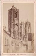 Vers 1900 Photo PAR LIBRAIRIE LESAULE RUE PORTE NEUVE A BOURGES / FAçADE DE LA CATHEDRALE - Bourges