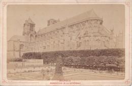 Vers 1900 Photo PAR LIBRAIRIE LESAULE RUE PORTE NEUVE A BOURGES / PERSPECTIVE DE LA CATHEDRALE - Bourges