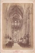 Vers 1900 Photo PAR LIBRAIRIE LESAULE RUE PORTE NEUVE A BOURGES /  LA CATHEDRALE - LA NEF - Bourges
