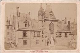 Vers 1900 Photo PAR LIBRAIRIE LESAULE RUE PORTE NEUVE A BOURGES /  PALAIS DE JACQUES COEUR - Bourges