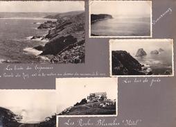 GW -page Recto-verso Album Ete 1949 -voyage En Bretagne - Pointe Saint Mathieu Conquet Lilia Trepassés Douarnenez Hotel - Lieux