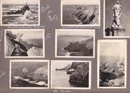 GW -page Recto-verso Album Ete 1949 -voyage En Bretagne - Saint Guenolé -phare Eckmul Confort Concarneau-pointe Raz - Lieux