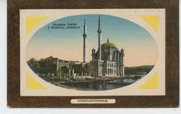 TURQUIE - CONSTANTINOPLE - Mosquée Validé à ORTAKEUY, BOSPHORE (embossed Postcard) - Turchia