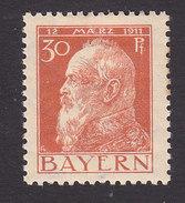 Bavaria, Scott #82, Mint Hinged, Prince Regent Luitpold, Issued 1911 - Bavaria