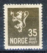#Norway 1927. Liontype. Michel 128. MH(*) - Unused Stamps