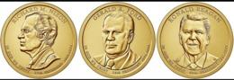STATI UNI D'AMERICA USA 2016 3X 1 DOLLARO RONALD REGAN RICHARD NIXON GERALD FORD DORATI - Stati Uniti