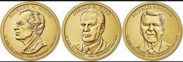 STATI UNI D'AMERICA USA 2016 3X 1 DOLLARO RONALD REGAN RICHARD NIXON GERALD FORD DORATI - Altri