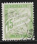 N° 30  FRANCE - TAXE OBLITERE - VERT JAUNE - 1859-1955 Oblitérés