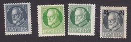 Bavaria, Scott #94, 96, 97, 115, Mint Hinged, King Ludwig III, Issued 1914 - Bavaria