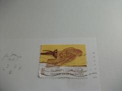 STORIA POSTALE FRANCOBOLLO COMMEMORATIVO UNITED ARAB EMIRATES  DUBAI  GRATTACIELO EFFETTO TRIDIMENSIONALE - Emirati Arabi Uniti
