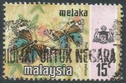 Malacca (Malaysia). 1971 Butterflies. 15c Used SG 75 - Malaysia (1964-...)