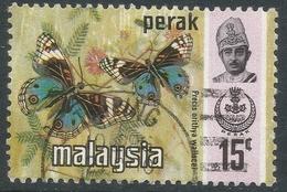 Perak (Malaysia). 1971 Butterflies. 15c Used. SG 177 - Malaysia (1964-...)