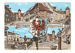 CPSM DILLINGEN Multivues Blason Oberes Tor Bickentor Kuranlagen Radmacherbrunnen & Riettor 1969 - Germany