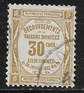 N° 46  FRANCE - TAXE OBLITERE -  RECOUVREMENTS - Postage Due