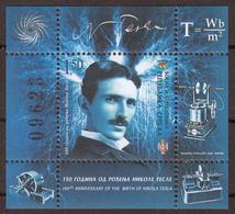 Bosnia Serbia 2006 Nikola Tesla, Scientist, Inventor, Block, Souvenir Sheet MNH - Bosnia Erzegovina