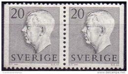 ZWEDEN 1957 20öre Paar Gustaf VI Adolf Type II PF-MNH