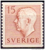 ZWEDEN 1951-1957 15öre Bruin Gustaf VI Adolf Type I PF-MNH