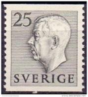 ZWEDEN 1951-1957 25öre Grijs Gustaf VI Adolf Type I PF-MNH