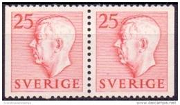ZWEDEN 1951-1957 25öre Rood Paar Gustaf VI Adolf Type I PF-MNH
