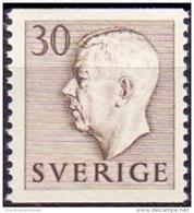 ZWEDEN 1951-1957 30öre Bruin Gustaf VI Adolf Type I PF-MNH