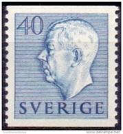 ZWEDEN 1951-1957 40öre Blauw Gustaf VI Adolf Type I PF-MNH