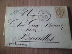 Pli Charles Dugrivel Et Baty Tournus De Louhans à Bruailles Le 21 Juillet 1875 Avec Le N° 55  Seul TB - Postmark Collection (Covers)