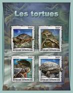 Centraal Afrikaanse Republiek / CAR - Postfris / MNH - Sheet Schildpadden 2017 - Centraal-Afrikaanse Republiek