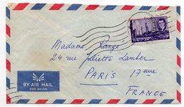 Iran--lettre De Téhéran  Pour PARIS (France)--timbre Seul Sur Lettre--cachet Mécanique - Iran