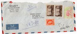 Iran-1971--lettre De Téhéran  Pour PARIS (France)--timbres Sur Lettre--cachet Mécanique + Cachet PARIS 17 Distribution - Iran