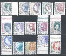 Italy. Scott # 2436-53 MNH Complete Set. Women In Art. 2002-04 - 2001-10: Ungebraucht