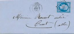Brioude 1858 20 C ND Bleu Sur Azuré Sur LAC Non Pliée TB.