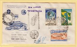 Beautiful Register Cover Of World Cup Soccer Brazil 1950. Football - Coupe Du Monde! - Fußball-Weltmeisterschaft