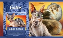 Guinee Bissau - Postfris / MNH - Sheet Katten 2017 - Guinea-Bissau