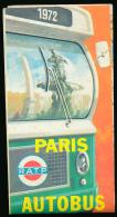 RATP (1972) : Carte Paris-Autobus, Reseau Urbain, Service De Nuit, Recto-verso, Excellent état (38 Cm Sur 50 Cm) - Europe