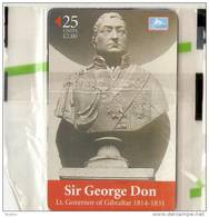 79 (GIB C25) TARJETA DE GIBRALTAR DE SIR GEORGE DON 25 UNITS   (NUEVA-MINT) - Gibraltar