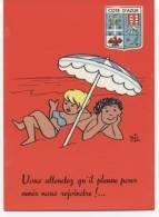 BIZ  ´  SERIE COTE D´AZUR  ´  EDITION OPPA   1962 NEUVE  CPSM  GLACEE / - Otros Ilustradores