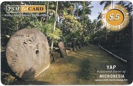 Micronesia - FSMTC - Kaday Stone - FSM-R-093 - 5$ Remote Mem. Used