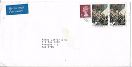 Great Britain Airmail Queen Elizabeth II 1987 Centenary Of Saint John Ambulance Brigade. 22p.Postal History Cover - Verkehr & Transport