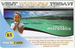 Micronesia - FSMTC - Welcome To Micronesia - FSM-R-067 - 5$ Remote Mem. Used