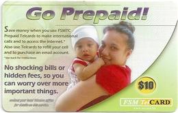 Micronesia - FSMTC - Woman And Baby - FSM-R-009 - 10$ Remote Mem. Used