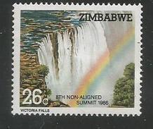 1986 Zimbabwe Non-Aligned Summit Water Falls Ruins Complete Set Of 2 MNH - Zimbabwe (1980-...)