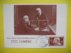 Carte-Maximum    N° 1033 Cinématographie Par Les Frères Lumière 1955 - Maximumkarten