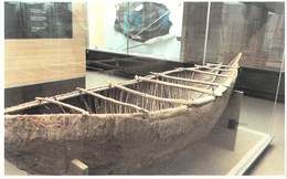 Amérique-Chili CHILE Canoea KAWESKAR (o Alacaluf) En Corteza Museo Mayorino Borgatello Punta Arenas Magallanes (canoe) - Chili