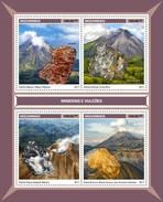 Mozambique - Postfris / MNH - Sheet Mineralen En Vulkanen 2017 - Mozambique