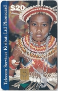 Kiribati - TSKL - Young Girl In Costume, 20$, Used (check Scans For Condition)